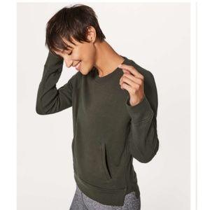 Lululemon Pullover Crew Sweatshirt Olive 6